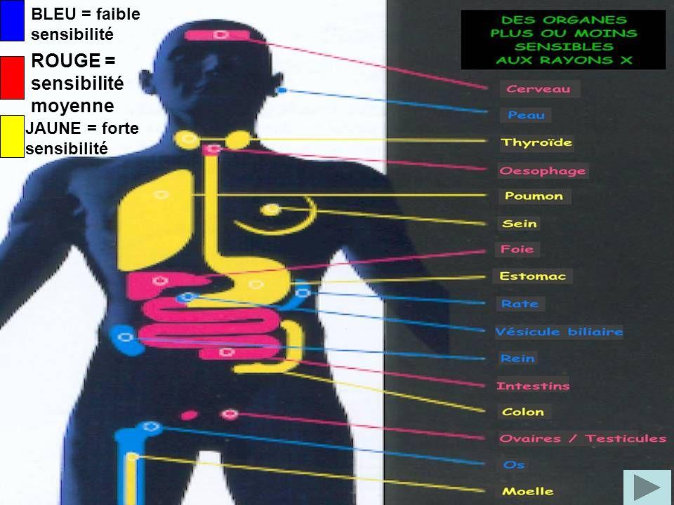 Cest pour cela que les rayons-X sont administrés à petites doses et avec beaucoup de précautions