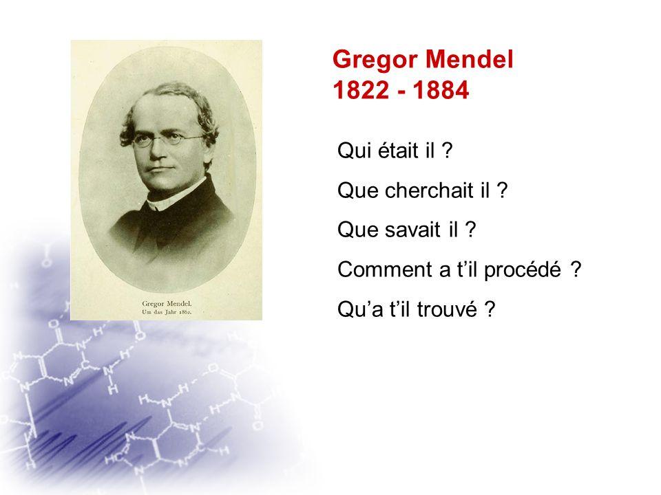 DES DÉBUTS DE LA GÉNÉTIQUE AUX ENJEUX ACTUELS DES BIOTECHNOLOGIES Gregor Mendel Naissance de la génétique