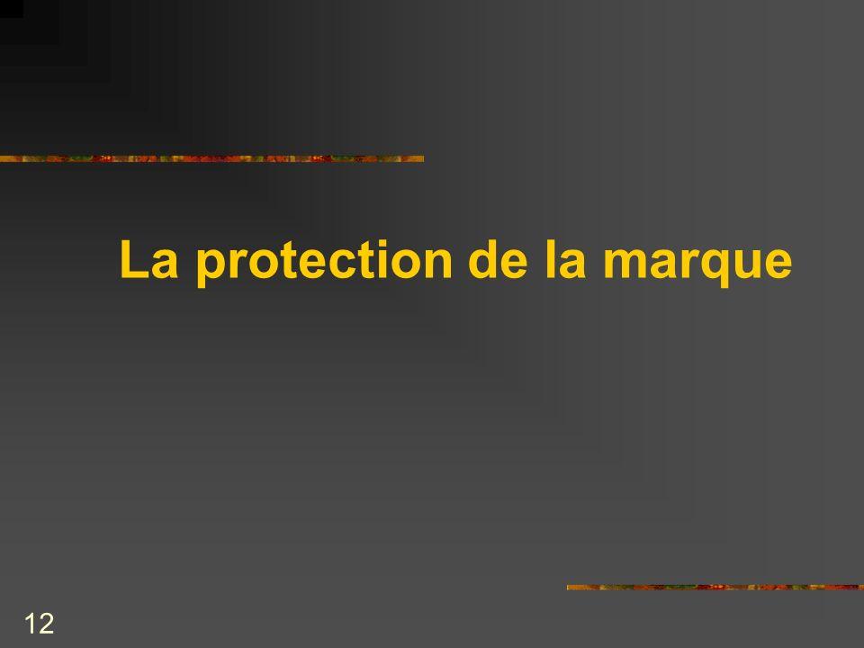 12 La protection de la marque