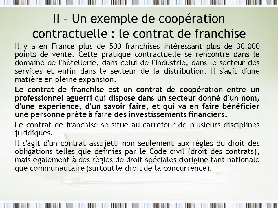 Concession : convention liant le fournisseur à un nombre limité de commerçants auxquels il réserve la vente dun produit sous condition quils satisfassent à certaines obligations.