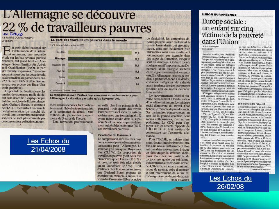 Les Echos du 21/04/2008 Les Echos du 26/02/08