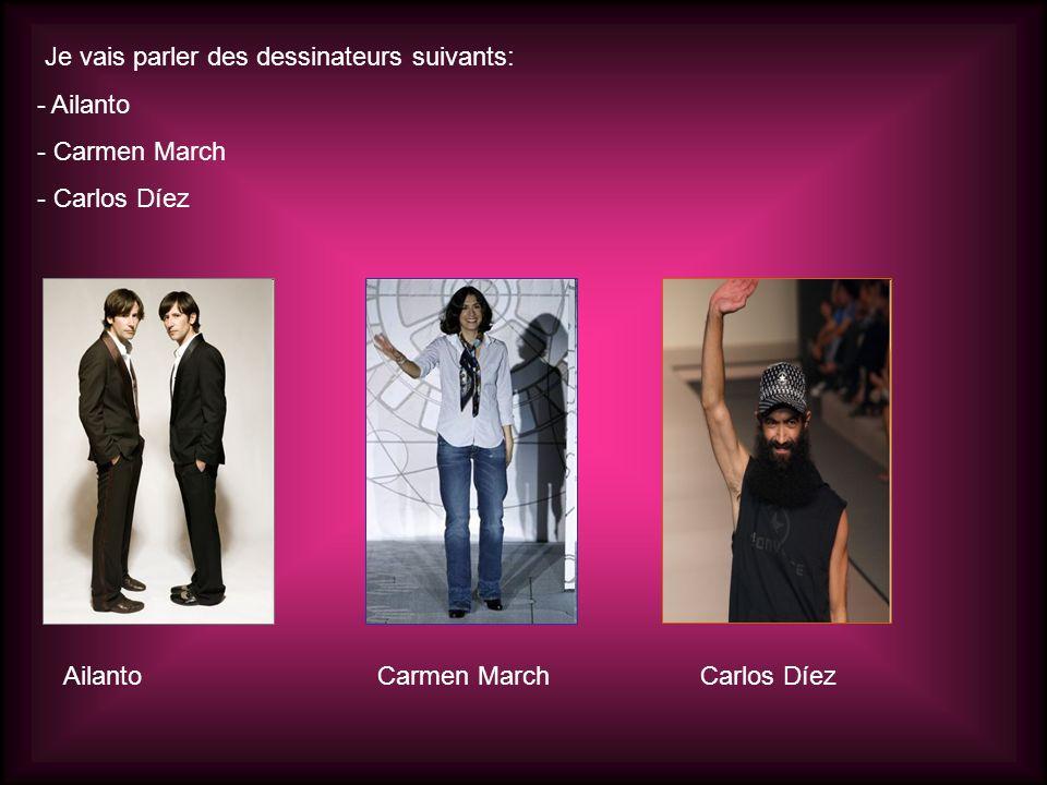 Je vais parler des dessinateurs suivants: - Ailanto - Carmen March - Carlos Díez AilantoCarmen MarchCarlos Díez