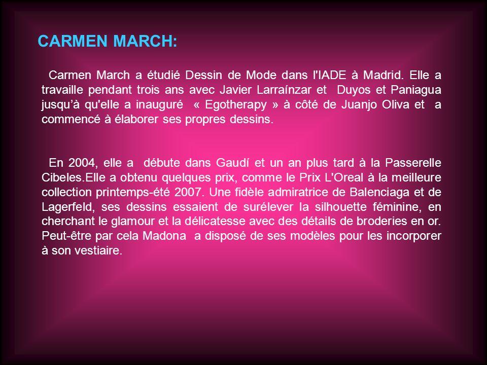 -FASHION-WEEK MADRID 2010, Carmen March: -Lidée: Loriginalité et lindépendance définissent son inspiration pour la collection A/H 2010 de Carmen March.