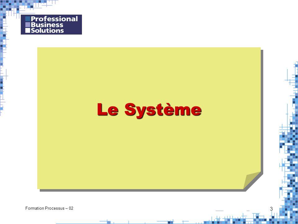 Formation Processus – 02 3 Le Système