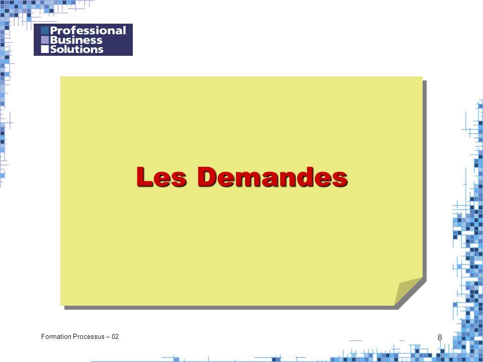 Formation Processus – 02 8 Les Demandes