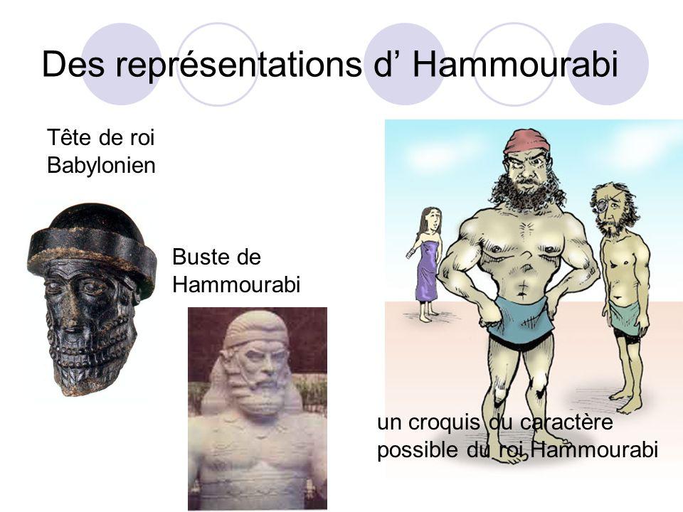Des représentations d Hammourabi Tête de roi Babylonien Buste de Hammourabi un croquis du caractère possible du roi Hammourabi