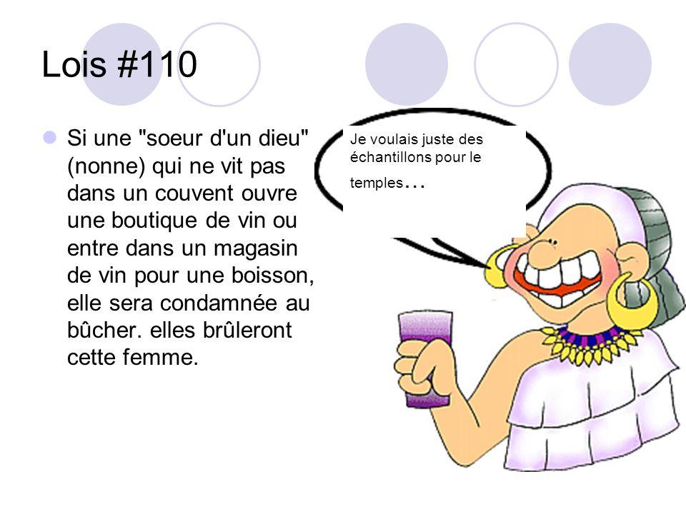 Lois #110 Si une