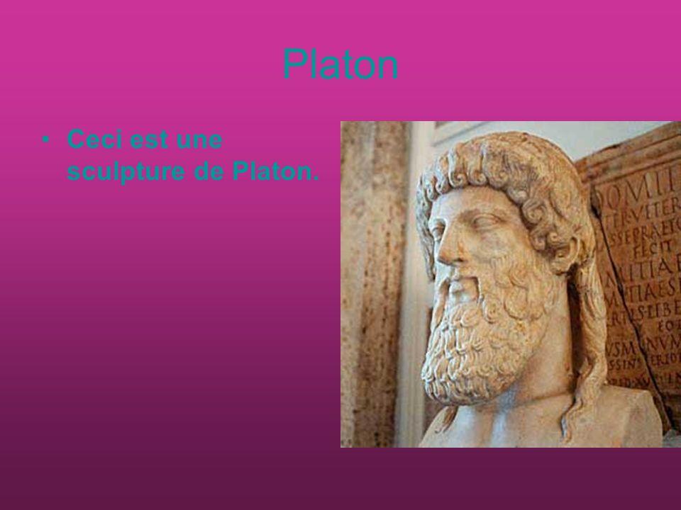 Platon Ceci est une sculpture de Platon.