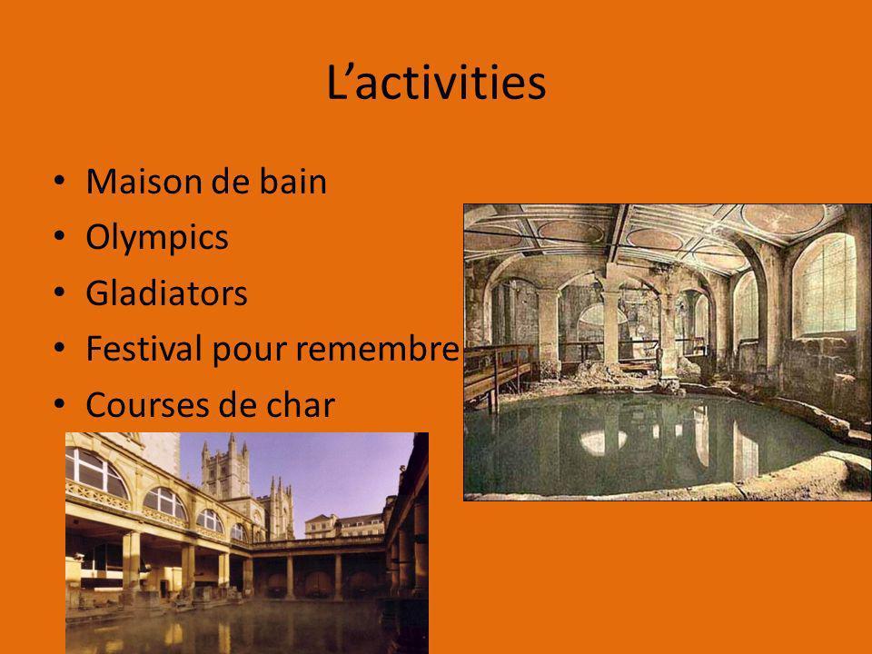 Lactivities Maison de bain Olympics Gladiators Festival pour remembre Courses de char