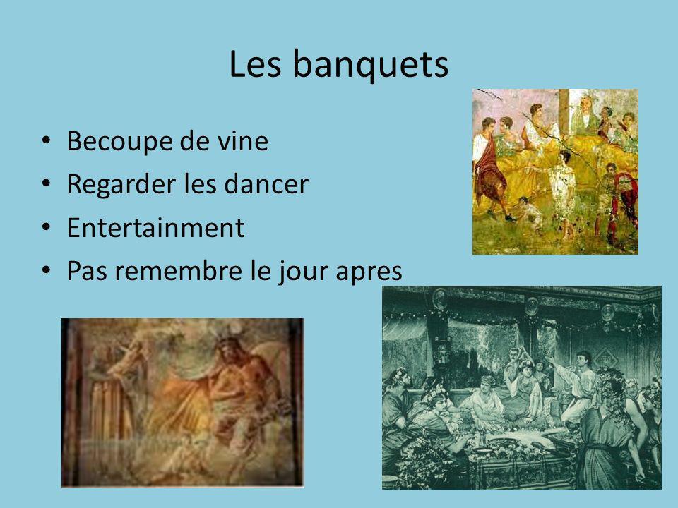 Les banquets Becoupe de vine Regarder les dancer Entertainment Pas remembre le jour apres