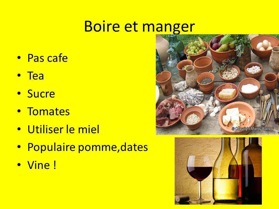 Boire et manger Pas cafe Tea Sucre Tomates Utiliser le miel Populaire pomme,dates Vine !