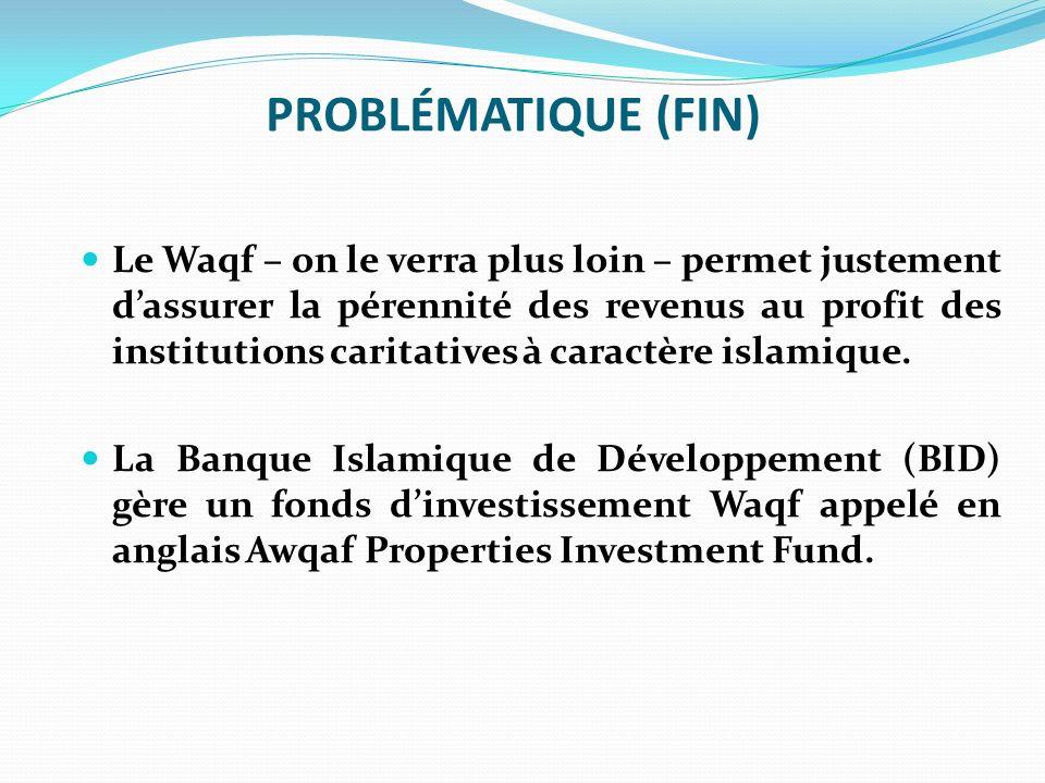 AWQAF PROPERTIES INVESTMENT FUND (APIF) Garanties Tous les projets Waqf doivent être garantis.
