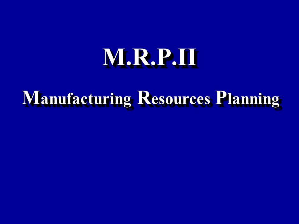 M.R.P.IIM.R.P.II M anufacturing R esources P lanning