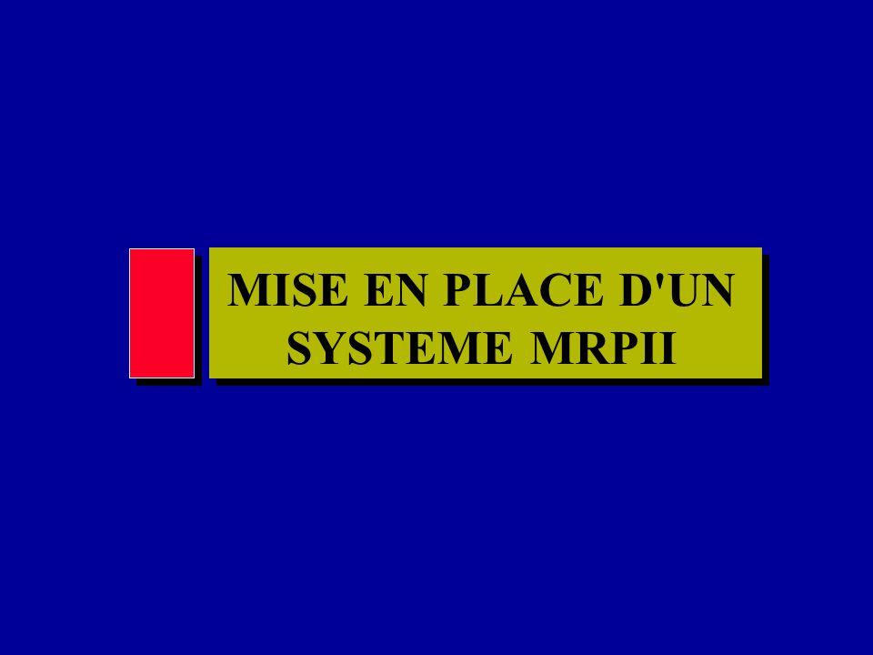 MISE EN PLACE D'UN SYSTEME MRPII