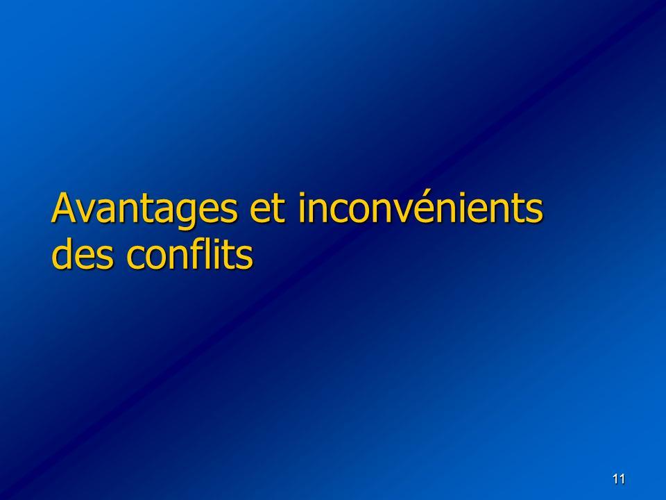 11 Avantages et inconvénients des conflits