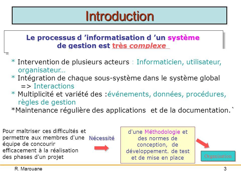 R. Marouane13 Les Découpages et Modèles de Développement ISEFC 2006/ 2007