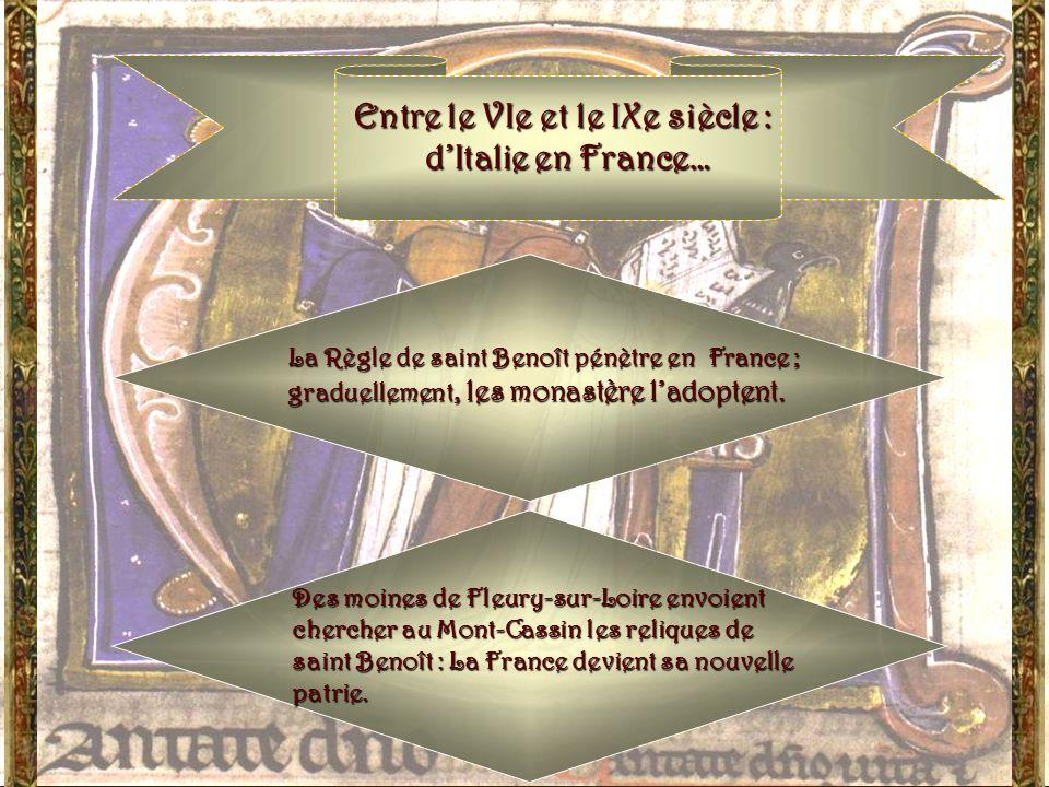 Mais cela fait lobjet dune autre présentation… Prenons aujourdhui comme point de départ lhéritage de saint Benoît : sa Règle et la vie des moines de s