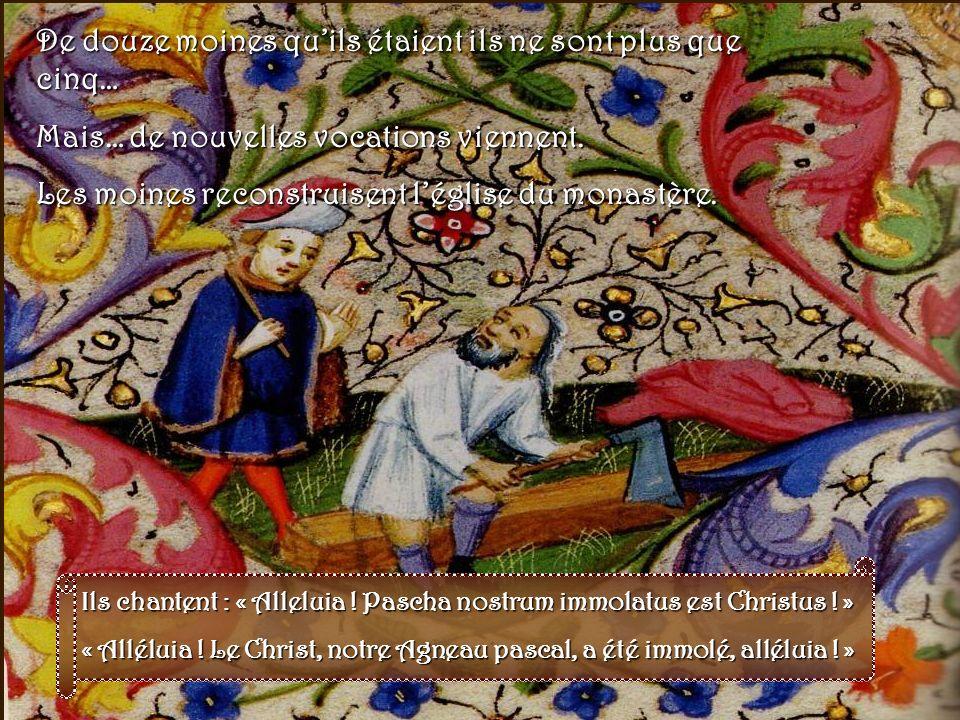 1425 : destruction du monastère de Solesmes Aux XIVe et XVe siècles, la guerre de cent ans ne pouvait que laisser des ravages. Voici le siècle de sain