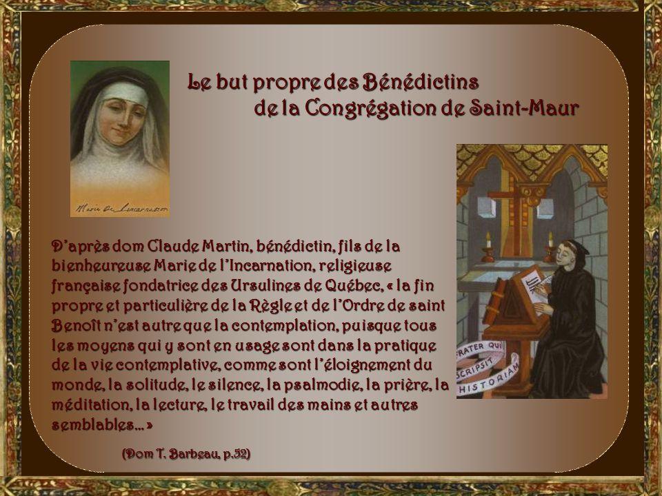 la vie reprend… la vie reprend… La Congrégation de Saint-Maur amène un nouveau rebondissement. Au début du XVIIe siècle, la vie bénédictine est renouv