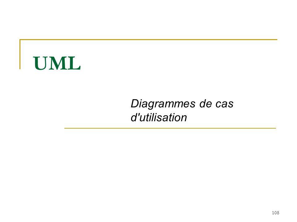 108 UML Diagrammes de cas d'utilisation
