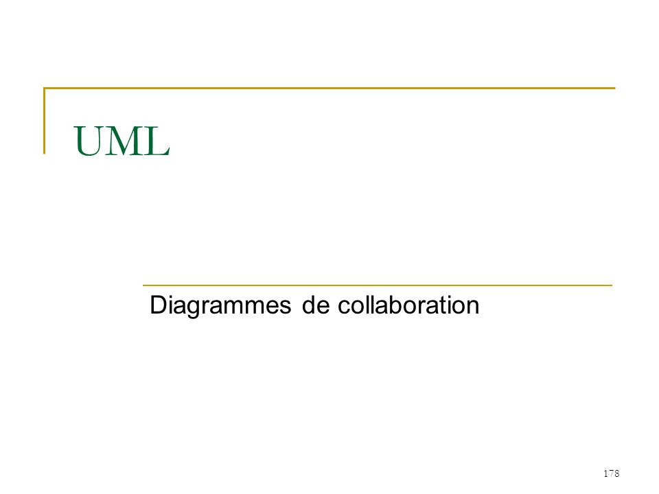 178 UML Diagrammes de collaboration