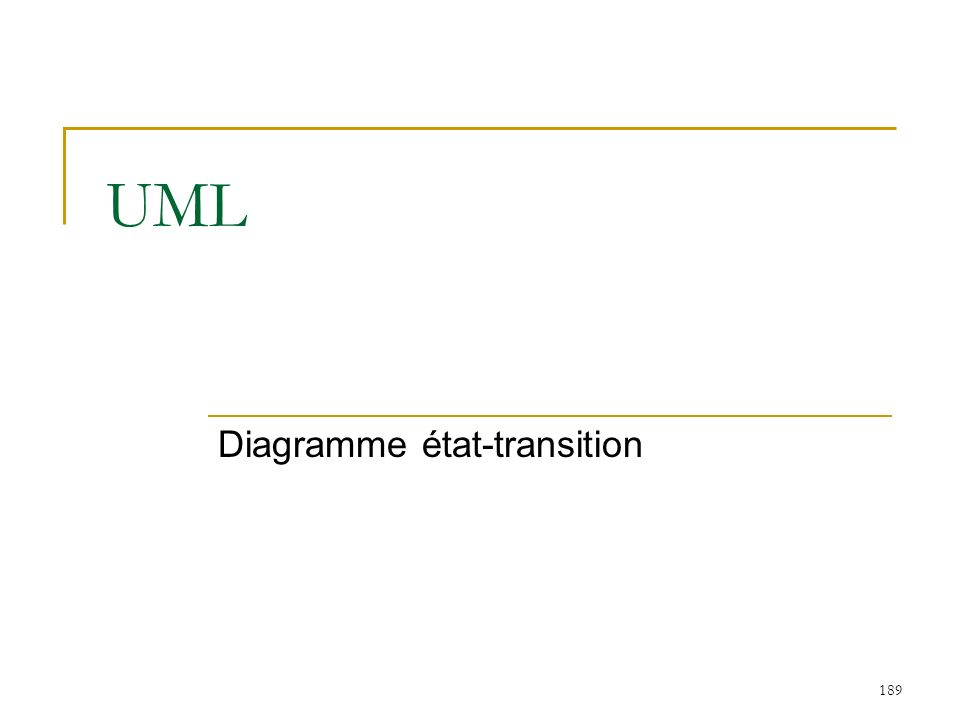 189 UML Diagramme état-transition