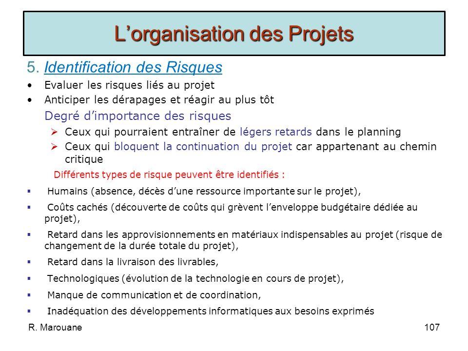4. Planification dun Projet Coût et Délai du Projet: Les coûts du projet doivent être évalués en fonction de leur nature : Coûts en matériel (locaux,