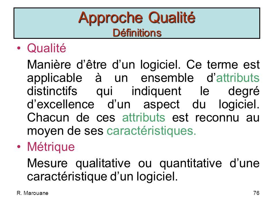 R. Marouane75 La Gestion de la Qualité La Gestion de la Qualité ISEFC 2009/2010