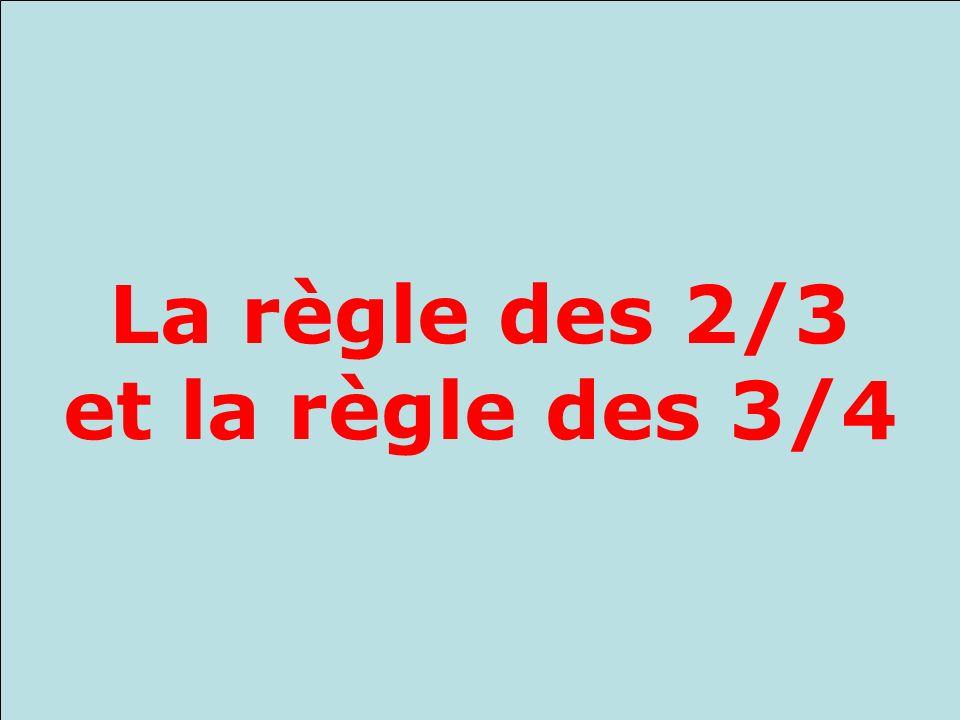 Xavier Roegiers, Rabat, Octobre 2008 La règle des 2/3 et la règle des 3/4