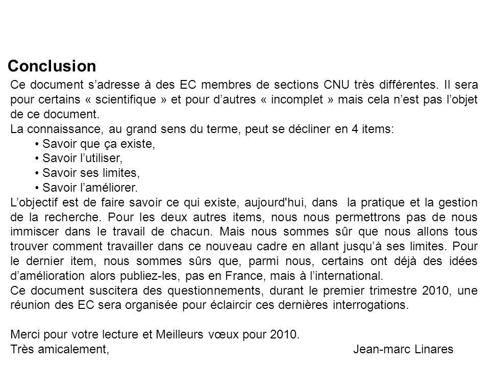 Ce document sadresse à des EC membres de sections CNU très différentes.