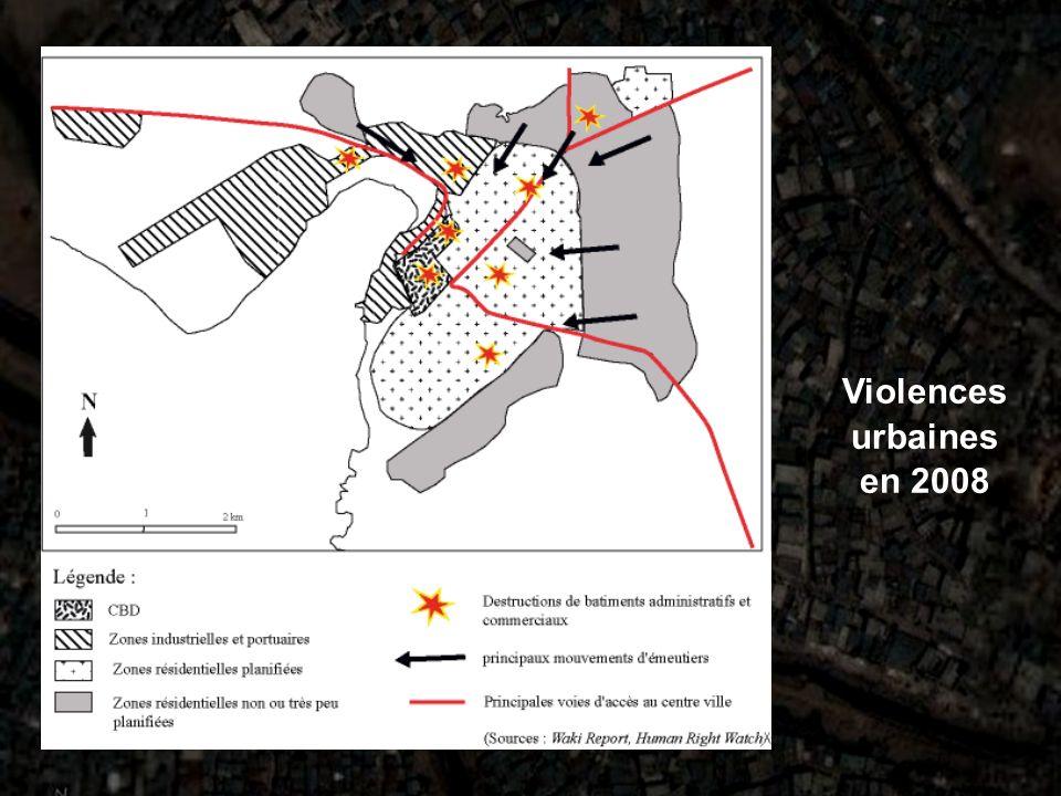 Violences urbaines en 2008