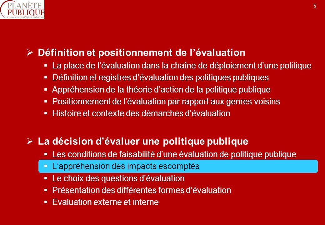 16 De lévaluation ex ante à lévaluation ex post Besoins Objectifs Ressources Evaluation ex ante Evaluation ex post Evaluation intermédiaire Impacts Résult.