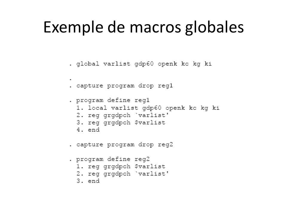 Exemple de macros globales