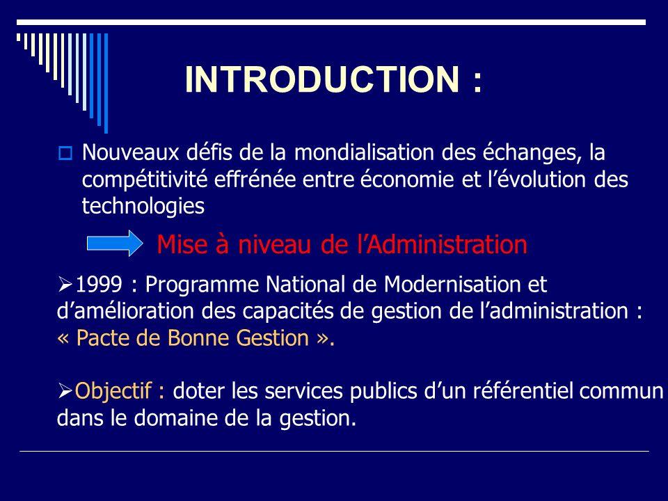 INTRODUCTION : Nouveaux défis de la mondialisation des échanges, la compétitivité effrénée entre économie et lévolution des technologies Mise à niveau