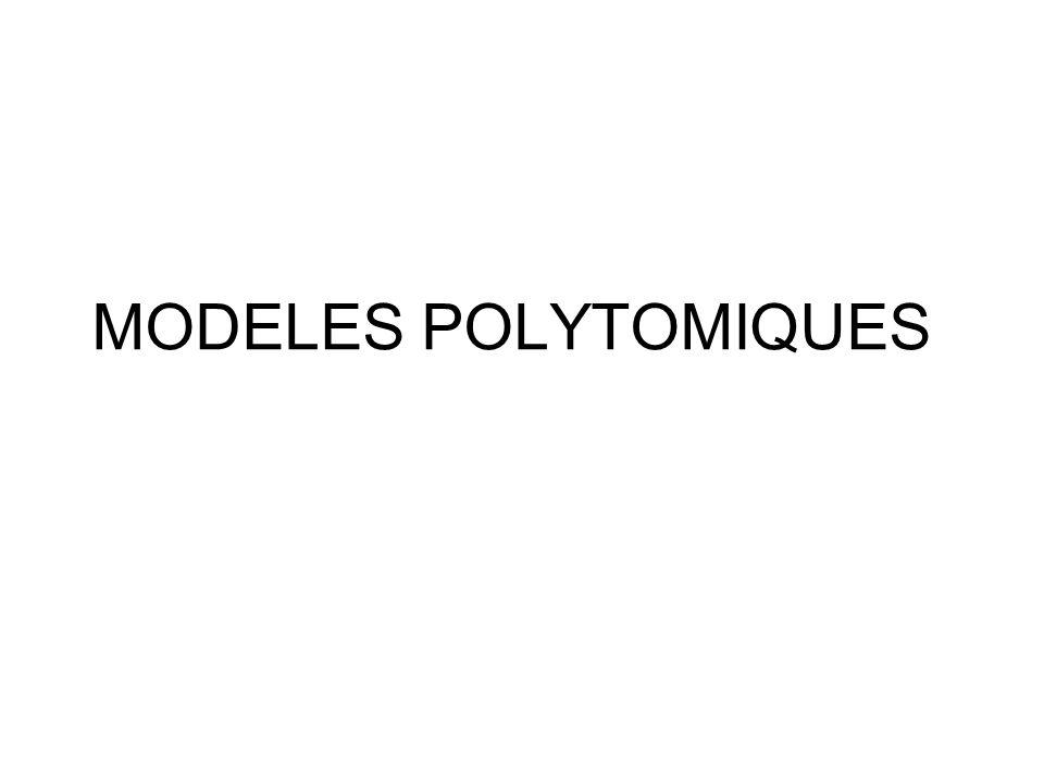 MODELES POLYTOMIQUES