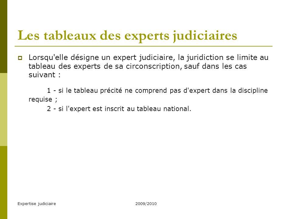 Expertise judiciaire2009/2010 Droits et obligations des experts judiciaires