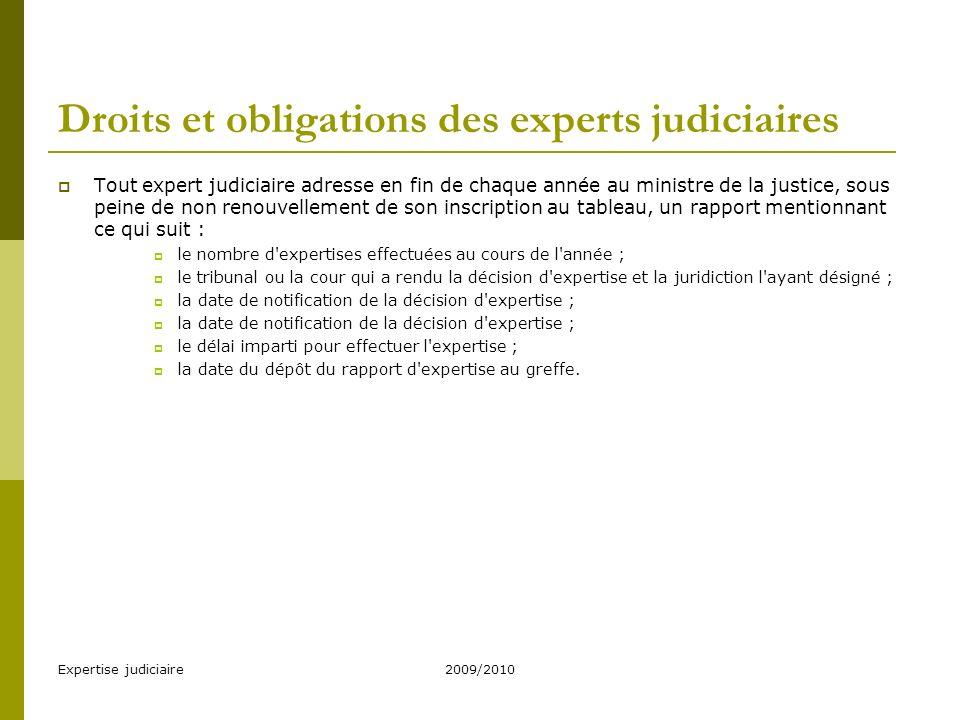 Expertise judiciaire2009/2010 Contrôle