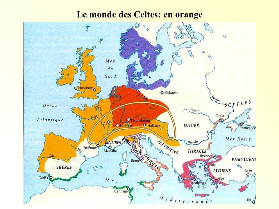 Les Gaulois Dorigine celte, ils vivaient en tribus (90 peuples).