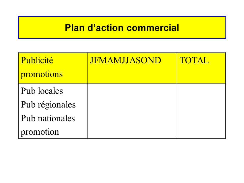 EFFECTIFSREGION aREGION bREGION c Vente Administration Marketing Masse salariale Plan daction commercial