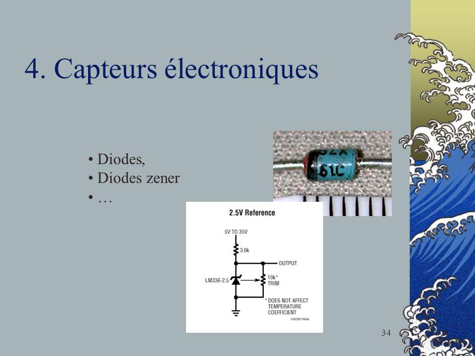 4. Capteurs électroniques Diodes, Diodes zener … 34