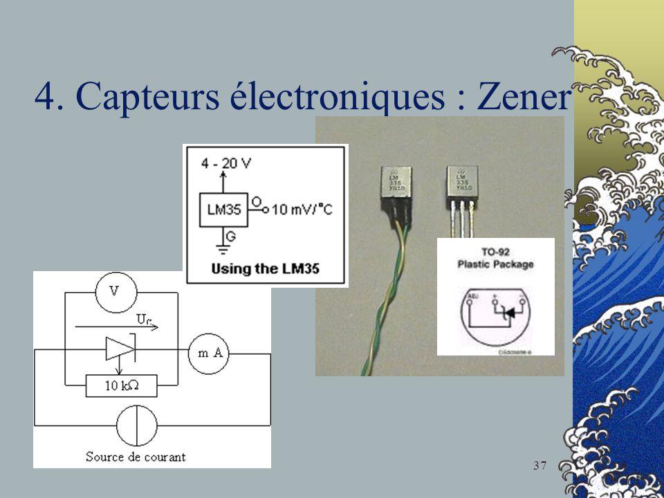 4. Capteurs électroniques : Zener 37