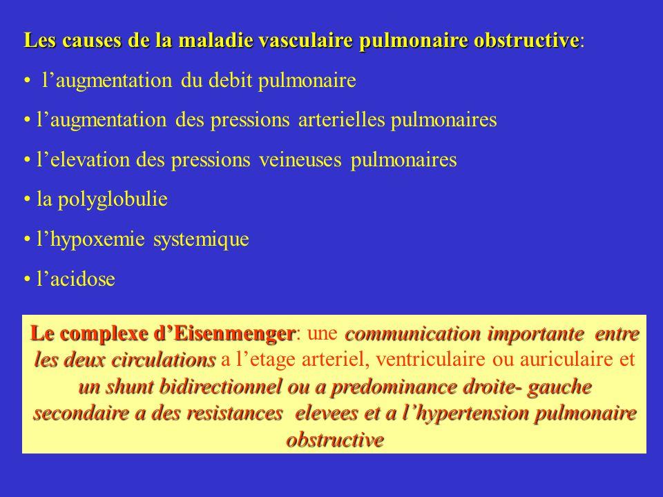Les causes de la maladie vasculaire pulmonaire obstructive Les causes de la maladie vasculaire pulmonaire obstructive: laugmentation du debit pulmonai