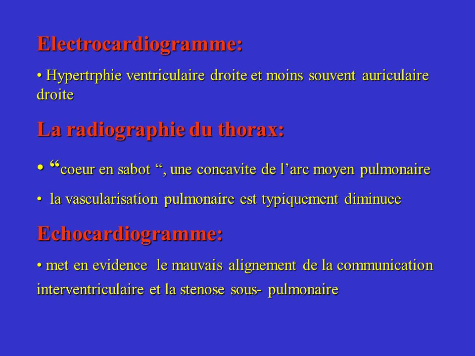 Electrocardiogramme: Hypertrphie ventriculaire droite et moins souvent auriculaire droite Hypertrphie ventriculaire droite et moins souvent auriculair
