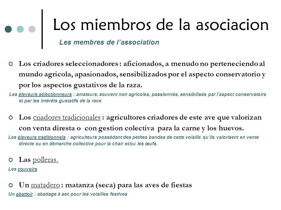 Los miembros de la asociacion Los criadores seleccionadores : aficionados, a menudo no perteneciendo al mundo agricola, apasionados, sensibilizados po