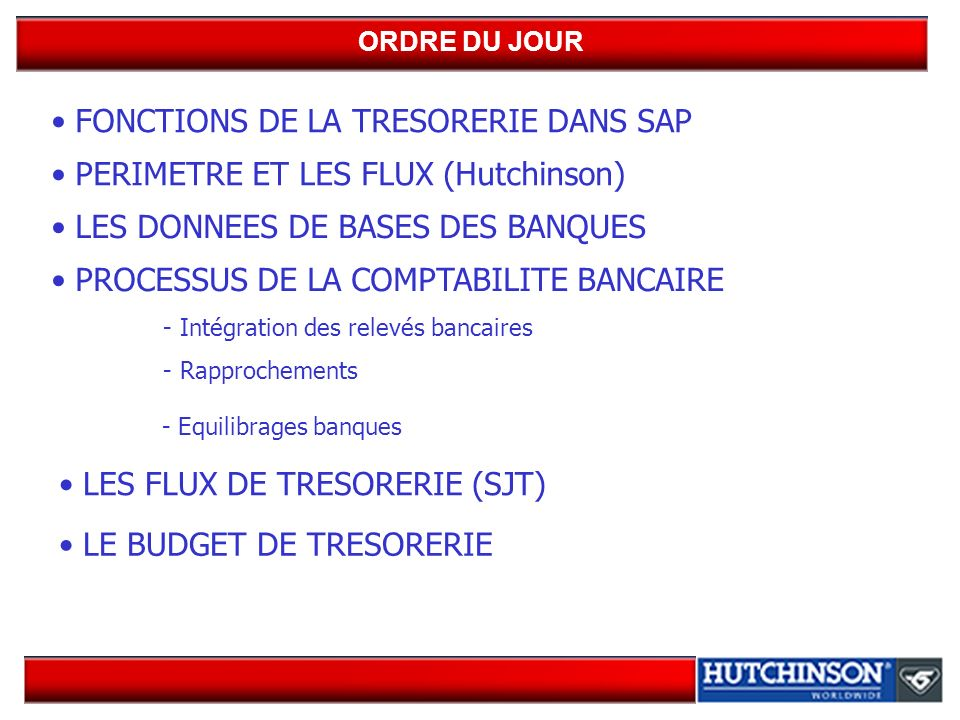 BUDGET DE TRESORERIE (suite) Budget de trésorerie : (FMR1) exemple