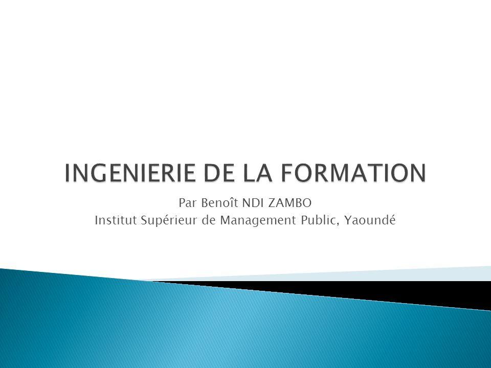 Par Benoît NDI ZAMBO Institut Supérieur de Management Public, Yaoundé