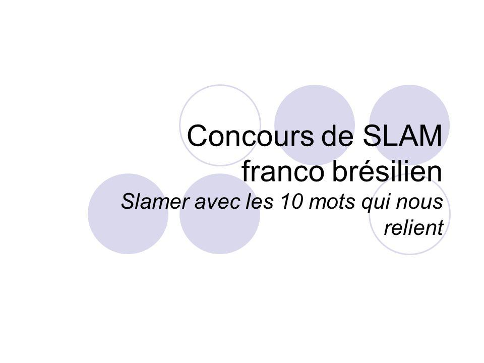 Concours de SLAM franco brésilien Slamer avec les 10 mots qui nous relient