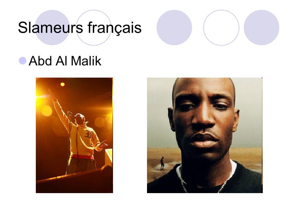 Slameurs français Abd Al Malik