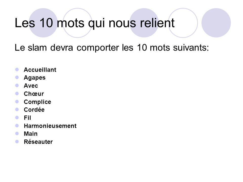 Langues du Slam Le slam pourra être composé soit intégralement en langue française, soit en alternant dans les textes le français et le portugais dans les limites dune proportion de 70% de termes français et de 30% de termes en portugais.