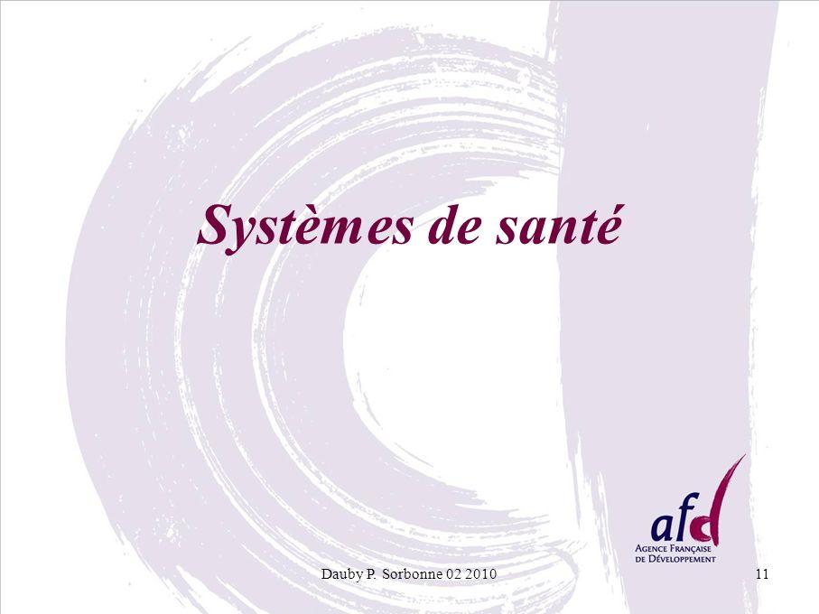 Dauby P. Sorbonne 02 201011 Systèmes de santé